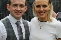 Conor O'Donnell who hosted the Mary from Dungloe country concert pictured with singer Patricia Maguire.