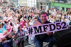 Daniel O'Donnell plugs the Mary from Dungloe hashtag #MFD52 at the country concert on Sunday.