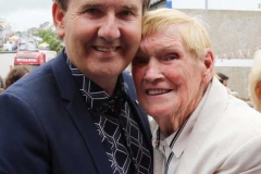 Daniel O'Donnell with his number one fan Maire Rua Gallagher at the country concert in Dungloe.