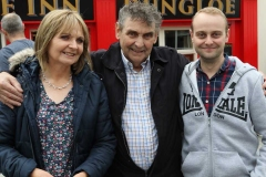 Ann O'Donnell, Paddy Gillespie and James Gillespie pictured at the Mary from Dungloe country concert.