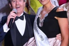 Daniel O'Donnell serenades the 2019 Mary from Dungloe Roisin Maher on the town's main street on Sunday night.