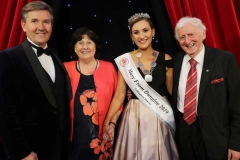 2019 Mary from Dungloe Roisin Maher with Daniel O'Donnell, the first winning Mary Celine Powell and the first festival director Daniel Gallagher.