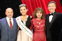 Roisin Maher, 2019 Mary from Dungloe with Eamon Gallagher, International Framers, sponsor of the New York Mary, Annemarie Mc Cullough, New York selection centre and singer Daniel O'Donnell.