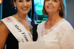 Margaret Boyle on behalf of Pure Boutique making a presentation to Roisin Maher.