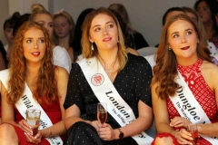 Nicola Ni Bhaoill, Sophie Walsh and Breena Boyle keeping an eye on the fashion at the Mary from Dungloe fashion sow this week. (Photos by Eoin Mc Garvey)