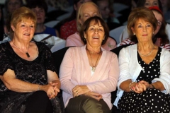 Burtonport ladies watching the fashion at the Mary from Dungloe fashion show.