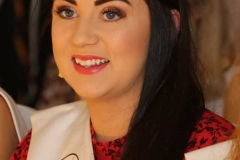 Gaeltacht Mary Joanne Ni Cheallaigh at the Mary from Dungloe fashion show.