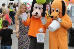 Disney charachters at the carnival parade in Dungloe.