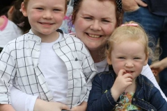 Myka and Zachary with mum Katie at the Mary from Dungloe carnival parade. (Pictures by Eoin Mc Garvey)
