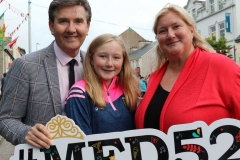 Singer Daniel O'Donnell at the opening of the 52nd Mary from Dungloe International Arts Festival with Crona Byrne and her daughter Kate. (Photos by Eoin Mc Garvey)