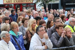 Some of the crowd at the opening of the 2019 Mary from Dungloe Festival.
