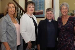 Carmel Bonner, Cllr Noreen Mc Garvey, Rev Liz Johnson and Anthea Atkinson at the opening reception of the Mary from Dungloe festival.