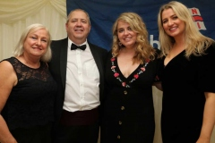Pat Boyle, who hosted the successful RNLI fundrasing gala dinner in the Waterfront Hotel on Saturday night pictured with his wife Frances and daughters Jessica and Lauren. (Photos by Eoin Mc Garvey)