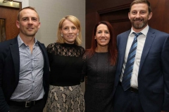Gareth Gibson, Kathy Ann Gibson, Julie Carr and Jeremy Carr from Calor Gas at the RNLI charity event in the Waterfront Hotel at the weekend.
