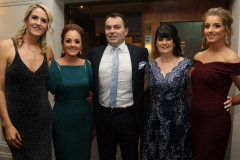 Roisin Rose, Martina Mc Clafferty, Niall Mc Walters, Mary Patton and Rachel Moore at the RNLI gala ball in the Waterfront Hotel.