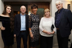 Kerry Graham, Trevor Graham, Patsy Graham, Kathleen Gillespie and Hugh Gillespie at the gala dinner in the Waterfront Hotel at the weekend.