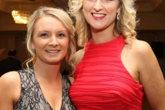 Caitriona Gallagher and Claire Sharkey at the RNLI gala dinner in Dungloe. (Photos by Eoin Mc Garvey)