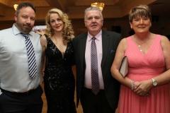 Gavin Rafferty, Martina Rafferty, John Joe Mc Gee and Mary Theresa Mc Gee at the RNLI gala event in the Waterfront Hotel.