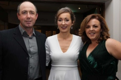 Michael Mc Elroy, Mary Frances Mc Elroy and Deborah Melly in the Waterfront Hotel, Dungloe for the RNLI and Dungloe Hospital gala dinner.