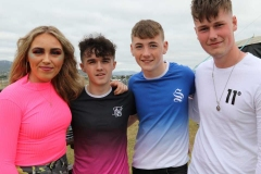Erin Gallagher, David Bonner, Dylan Wallace and Jack O Beirne at the Sult muisc festival in Gweedore.