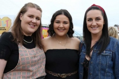 The Gallagher sisters, Sile, Grainne and Bridin at Sult 2019 in Gweedore.
